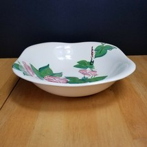 Red Wing Pottery Morning Glory Pink Soup Cereal Bowl 1940's MCM - $9.89