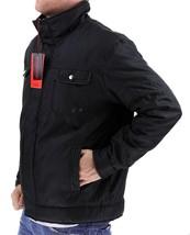 NEW MEN'S PREMIUM SECURITY ZIP UP WATER RESISTANT POLY JACKET BLACK B-H005 image 2