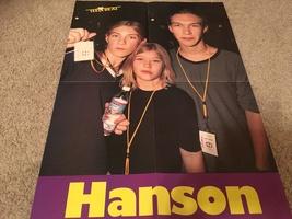 Hanson Zac Hanson teen magazine poster clipping shaker time Teen Beat