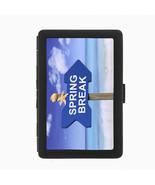 Spring Break D1 Black Cigarette Case Metal Wallet RFID Protection - $9.46