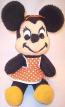 Vintage Walt Disney Minnie Mouse Orange Apron Plush California Stuffed Toys - $9.99