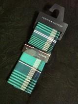 Tommy Hilfiger Uomo Nuovo Verde 100% Cotone Plaid Tasca Quadrato - $27.69