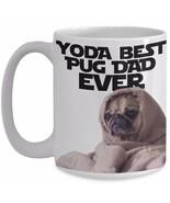 Pug Dad - Yoda Best Pug Dad Ever - Star Wars Pun Funny Pugs Mug Cute Cof... - ₨1,451.42 INR+