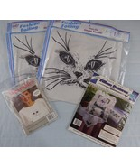 Transfer crafts for the Cat Lover Cat's Face to Cross Stitch Pillow Patt... - $11.88
