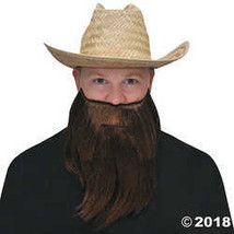 BESTPR1CE Full Beard And Mustache Brown Costume Accessory - $15.36