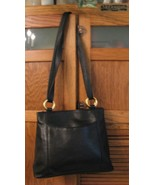 PURSE Handbag Soft Black Leather Unique STRAP Pocketbook Cross Body Shoulder BAG - £14.34 GBP