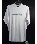 Quicksilver Short Sleeve Rashguard White Swim Shirt 50+ UPF Sun Protecti... - $29.69