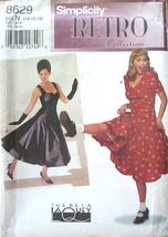 Simplicity Retro Pattern 8629 Size 10-14 Swing Dress /Costume 1940s-50s ... - $14.20