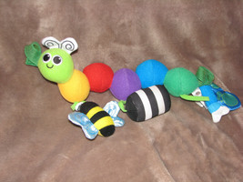 Sassy Stuffed Plush Caterpillar Worm Baby Toy Chime Rattle Carseat Mobile Baby - $31.67