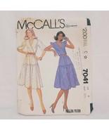 Summer Dress Misses Junior Petite Size 8 McCall's 7041 Sewing Precut 1980 - $15.99