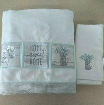 Avanti Linens Sweet Home Set of 2 Towels - Ivory  new with tags  image 5