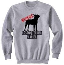 BOSTON TERRIER OFFICIAL WALKER 2 - NEW COTTON GREY SWEATSHIRT- ALL SIZES - $34.33