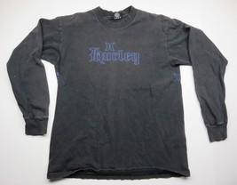 HURLEY International Black Long Sleeve Shirt Front & Back Graphic Adult ... - $29.65