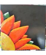 "8""x8"" Hand Painted Tile - Orange Flower - $25.00"