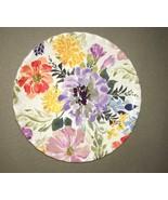 "Melamine Plates Floral 9"" Appetizer Dessert Salad Lunch set of 4 NEW Ruf... - $34.53"