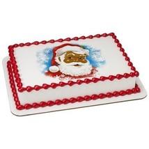 1/8 Sheet Classic Santa PhotoCake Image (African American) Edible Frosting Cake  - $9.99