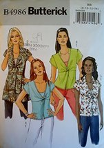 Butterick B4986 Misses Top and Camisole; Size BB (8-10-12-14) - $4.94