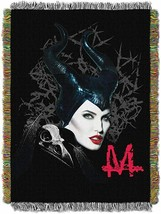 "Disney's Maleficent, ""Dark Queen"" Woven Tapestry Throw Blanket, 48"" x 60"" - $39.59"