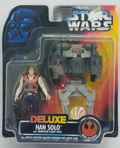 Star wars han solo with smuggler flight pack Deluxe carded figure potf - $11.97