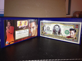 ELVIS PRESLEY Legal Tender USA $2 Dollar Bill WITH LASER AUTO ! Certified - $18.50
