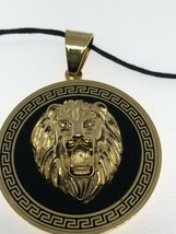 Leo Lion Necklace Golden Stainless Steel - $35.64