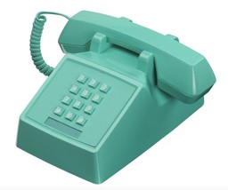 Retro Green Phone Vintage Push Button Telephone Classic Landline Gifts F... - $79.99