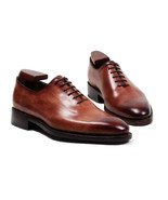 Shoes custom handmade shoes men s shoes genuine calf leather color brown lace up shoes thumbtall