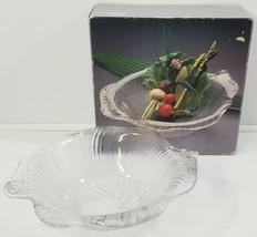 "N) Studio Nova Nautical Sea Shell Crystal Clear Glass Japan Serving Bowl 10.5"" - $9.89"