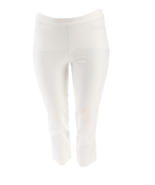 Isaac Mizrahi 24/7 Stretch Crop Pants Back Slit Hem Bright White, Size 1... - $24.74