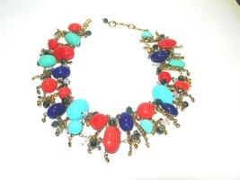 BEAUTIFUL ESTATE COLORFUL MIXED MEDIA GLASS CRYSTAL ORANGE BLUE ARTISAN ... - $150.00