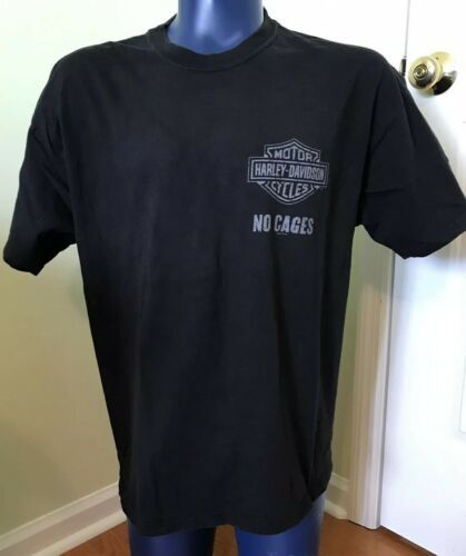 Harley Davidson Tee T Shirt Grand Canyon Bellemont Arizona XL Black No Cages image 2