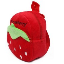 Lovely Strawberry Baby Mini Backpack Infant Lunch Bag Toddler Shoulder RED 1-4Y