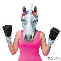 UHC Unicorn Head w/ Hooves Funny Comical Theme Party Halloween Costume Mask - $28.73