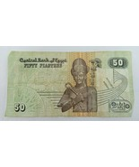 Banknote Central Bank Of Egypt 50 Plastres Paper Money   - $10.00