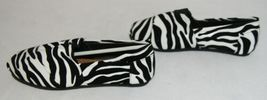 Izzy Mico Slip On Flat Rubber Sole Zebra Print Size Seven image 5