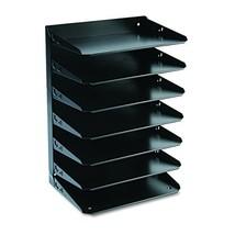 MMF Industries 7-Tier Letter-Size Horizontal Steel Desk Organizer, Black... - $64.28