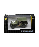 1/4 Ton Military Vehicle Soft Top Green 1/43 Diecast Model Car by Carara... - $18.39