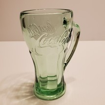 Vintage Coca Cola green glass mug stein 14oz.   - $18.00