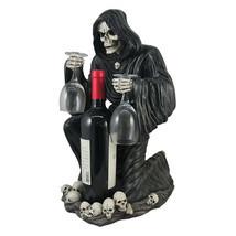 3pc Black Grim Reaper Decorative Wine Bottle Holder Halloween Gothic Dec... - £64.75 GBP