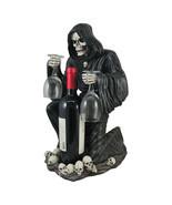 "3pc Black Grim Reaper Decorative Wine Bottle Holder Halloween Gothic Decor 18"" - £64.52 GBP"