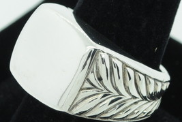 David Yurman Sterling Silver Signet Ring (Size 10 5/8) - $320.00