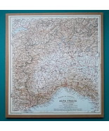 """ITALY North West Part - 1931 BAEDEKER MAP 10.5 x 11.5 """"  26.5 x 28.5 cm - $21.60"""