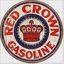 Red Crown Gasoline Metal Sign Tin New Vintage Style USA #1899 - $10.29