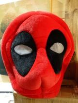 Marvel Maskimals Deadpool Red Black Plush Oversize Head Costume Hallowee... - $28.70