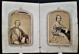 1860s antique CDV PHOTOGRAPH ALBUM trenton ny BAINBRIDGE FAMILY moore co... - $175.00
