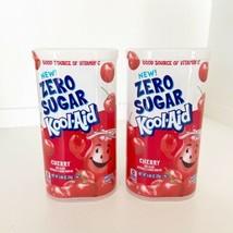 ZERO SUGAR Kool-Aid Powdered Drink Mix CHERRY .88 oz Tub Lot Of 2 BB 2/20 - $24.74