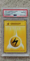 Pokemon Lightning Energy 100/102 Shadowless Base Set PSA 10 1999 Pokemon... - $29.99