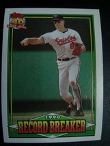Cal Ripken 1991 Topps Baseball Record Breaker Card #5 Baltimore Orioles ... - $9.90