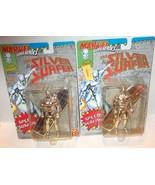"✰ Toy Biz Marvel Superheroes Silver Surfer 5"" Figure 1992 CHROME VERSION... - $13.99"