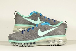 Nike Womens Air Max Flyknit iD Gray Green New Custom Sz 6.5 - $85.49
